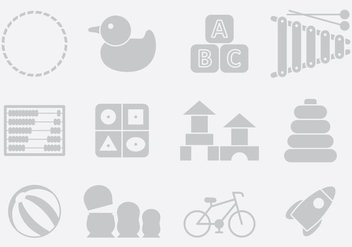 Gray Toy Icons - Free vector #395387
