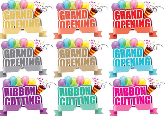 Grand Opening Titles - Free vector #395397