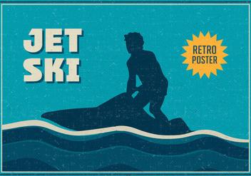 Free Jet Ski Vector Retro Poster - vector #395417 gratis