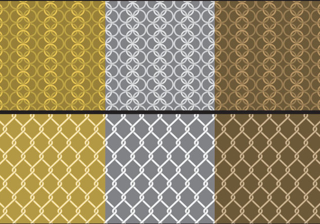 Metal Chainmail Patterns - Free vector #395437