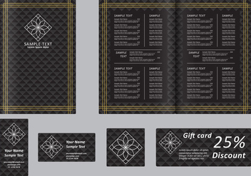 Black Menu - vector gratuit #395447