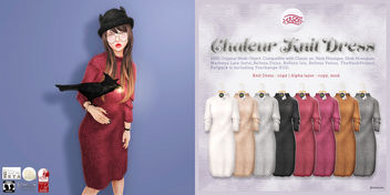 ASO!Chaleur Knit Dress 50%off @ SaNaRae - Free image #395537