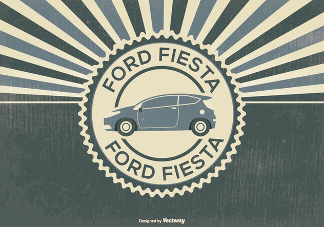 Retro Style Ford Fiesta Illustration - vector #395607 gratis
