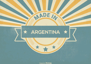 Retro Made in Argentina Illustration - бесплатный vector #395697