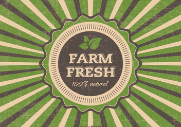 Grunge Farm Fresh Vector Illustration - Free vector #395737