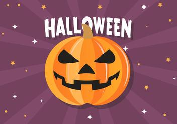 Free Funny Halloween Pumpkin Vector - Kostenloses vector #395787