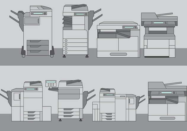Photocopier Tool Set - vector #395857 gratis