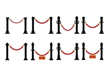 Free Velvet Rope Vector Set - бесплатный vector #395907