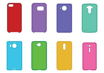 Phone Case Set - Free vector #395947