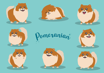 Free Cartoon Pomeranian Vector - vector gratuit #395987