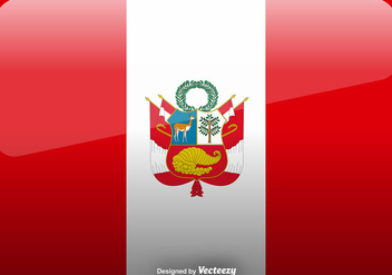 Vector Peru Flag Icon Background - Free vector #396467
