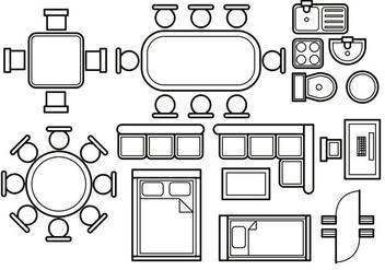 Floor plan vector - Free vector #396827