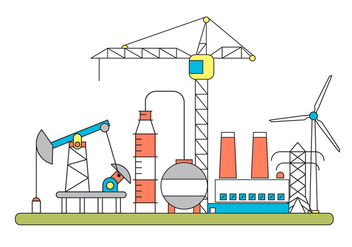 Factory Vector Illustration - vector gratuit #396837