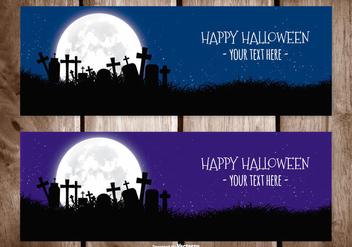 Halloween Vector Banner - Free vector #396957