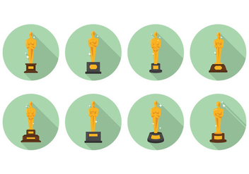 Sparkling Oscar Statue Vectors - бесплатный vector #396967