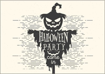 Dark Halloween Party Vector - vector #396977 gratis