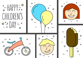 Free Children's Day Vectors - бесплатный vector #396987