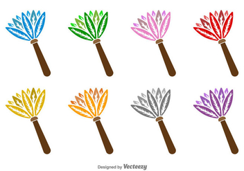 Feather Duster Vector Icons - бесплатный vector #397047