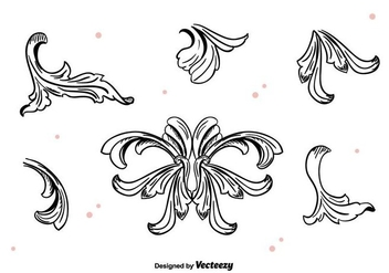 Hand Drawn Acanthus Vector - бесплатный vector #397437