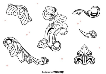 Hand Drawn Vintage Ornaments - Free vector #397637