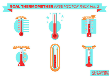 Goal Thermometer Free Vector Pack Vol. 2 - Kostenloses vector #397657