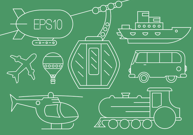 Transportation Vector Icons - vector #397687 gratis
