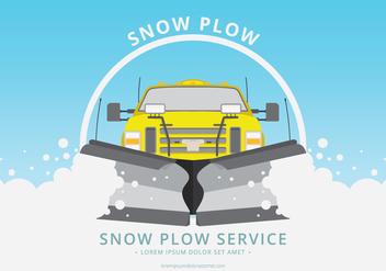 Snow Plow Car Illustration - Kostenloses vector #397867
