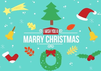 Free Vector Christmas Elements - Free vector #397937