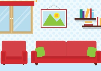 Free Vector Room Illustration - Free vector #397957