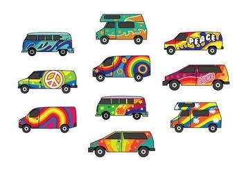 Free Hippie Bus Vector - Kostenloses vector #398097