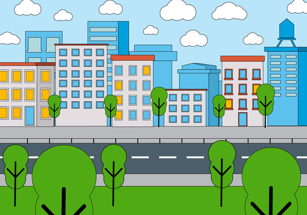 Free Cityscape Vector Design - Free vector #398227