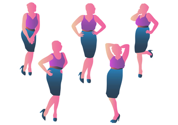 Business Woman Silhouette Vectors - Free vector #398267