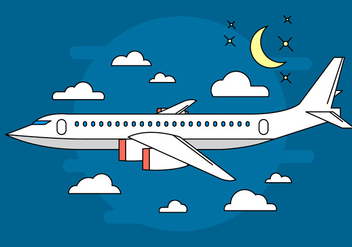 Airplane Vector Illustration - Kostenloses vector #398377