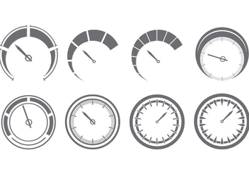 Set Of Tachometer Icons - Free vector #398397