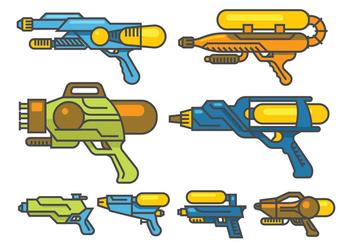 Water Gun Vectors - Free vector #398517