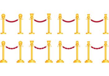 Velvet Rope Vectors - Free vector #398537