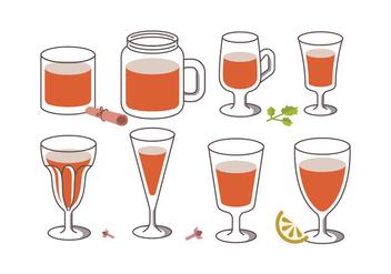Sangria Drink Vectors - vector #398607 gratis