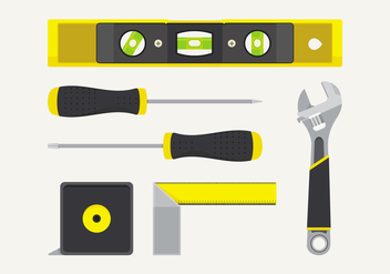 Vector Level Construction Tools Set - vector gratuit #398677