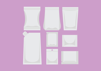 White Sachet Package Vectors - vector #398777 gratis