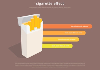 Cigarette Pack Infographic Template - vector gratuit #398907