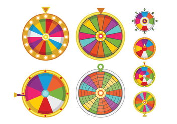 Wheel of Fortune Vectors - бесплатный vector #399017