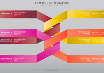Combine Infographic Template - Free vector #399067