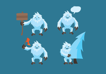 Yeti Cartoon Vector - Free vector #399087