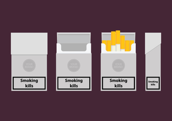 Cigarette Pack Templates - vector gratuit #399107