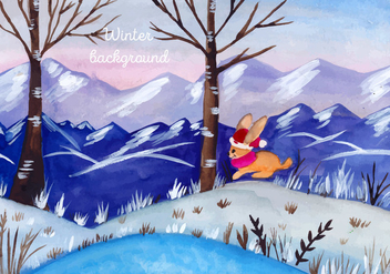 Free Vector Watercolor Christmas Landscape - vector #399457 gratis