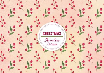 Vector Christmas Berries Pattern - vector gratuit #399467