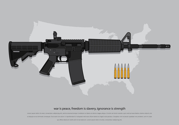 AR15 American Army - Free vector #399617
