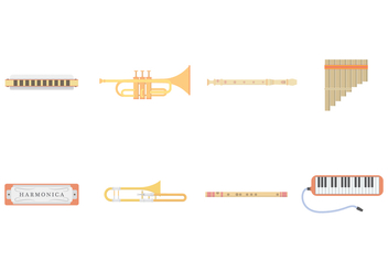 Free Wind Instruments Vector - бесплатный vector #400167