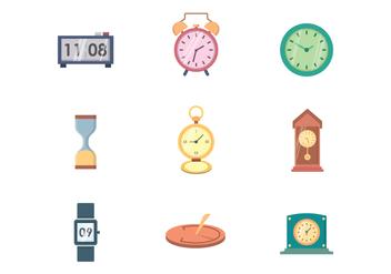 Free Clock Vector - Kostenloses vector #400257