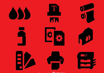 Printer Element Icons Vector - vector gratuit #400267